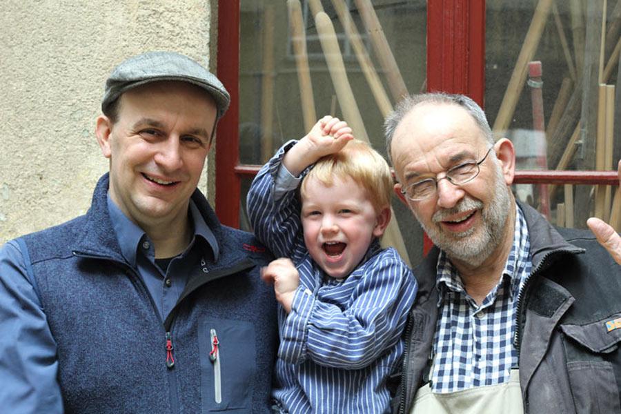 Drei Generationen der Familie Ißleib