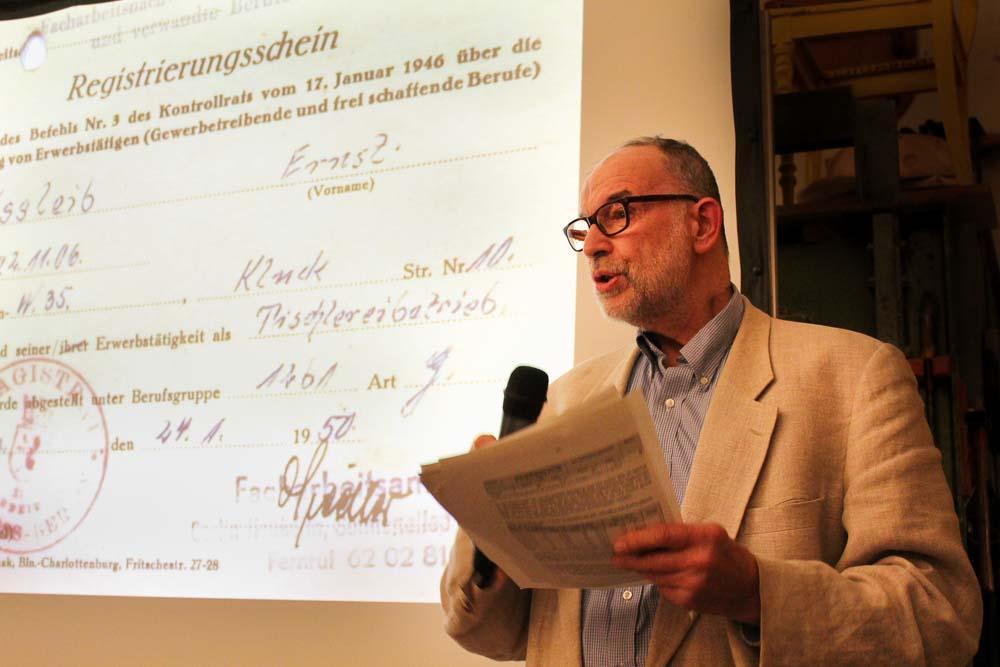 Ernst Helmut Ißleib bei Jubiläumsrede
